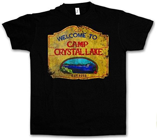 CAMP CRYSTAL LAKE VINTAGE SIGN T-SHIRT - Freitag The 13 Friday Jason Horror 13th Größen S - 5XL (XXXL) Camp Crystal Lake