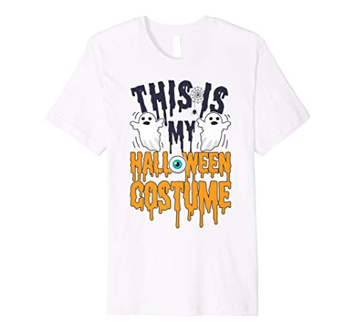 This is My Halloween Costume T shirt Kids Funny Ghost Gift