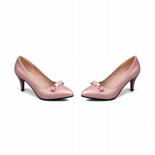 Mee Shoes Damen OL-stil high heels Perle-Dekoration Pumps Pink ...
