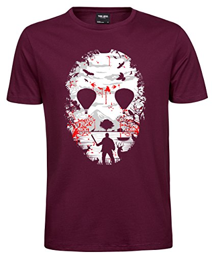 makato Herren T-Shirt Luxury Tee Crystal Lake Wine