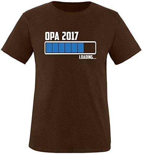 EZYshirt® Opa 2017 Herren Rundhals T-Shirt Braun/Weiss/Blau