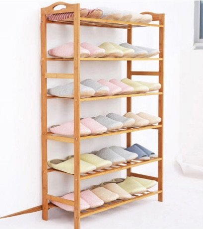 Natural Bamboo Wooden Shoe Rack 3-tier, 4-tier, 5-tier and 6-tier (6-Tier)