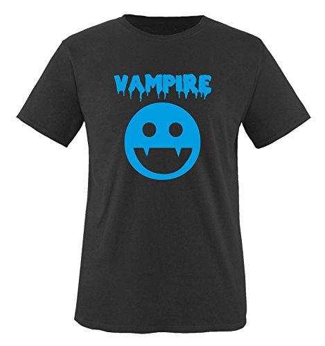VAMPIRE KOSTÜM -Herren T-Shirt in Schwarz/Blau Gr. L