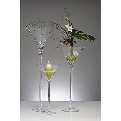 Sandra Rich XXL Martiniglas, Bodenvase auf Fuß H. 90cm Ø 35cm transparent rund