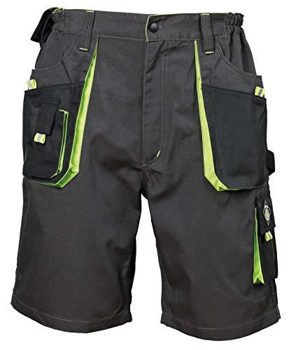 Emerton® - Herren Shorts/kurzen Arbeitshosen - für den Sommer - Grau/Grün EU54