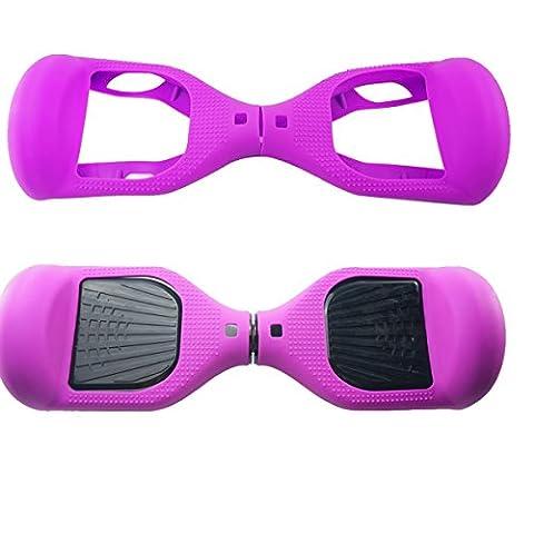 [Wheelelite] Coque protectrice en silicone contre les rayures pour votre planche scooter Hoverboard à deux roues de 16,5 cm Scooter d'équilibre, violet