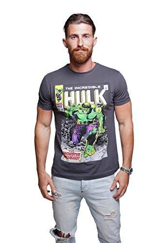 Course - Herren T-Shirt in Anthtarzit - Hulk, Grau, S