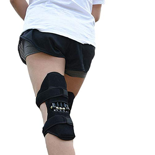 Kniepolster Knie-Booster mit Kraftvolle Federkraft Booster Knieschützer für Laufen Klettern Squat Sports Bergsteigen
