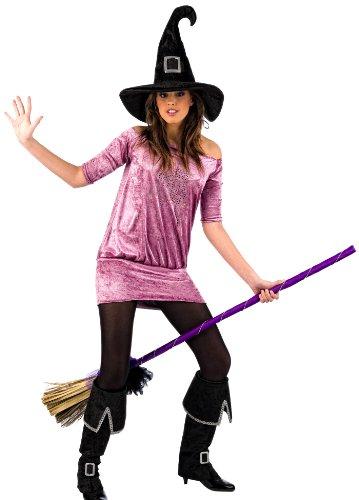 Kostüm Hexe Strass - Limit Sport Mascarada MA044 S - Hexe Strass Kostüm, Größe S, lila/rosa