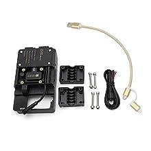 KKmoon Staffa di Navigazione per Telefono Cellulare, Staffa per Auto Accessori con USB per BMW R1200GS LC e Adventure S1000XR R1200RS