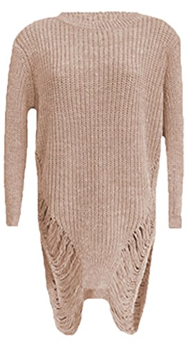 Janisramone - Pull - Manches Longues - Femme * taille unique Nude