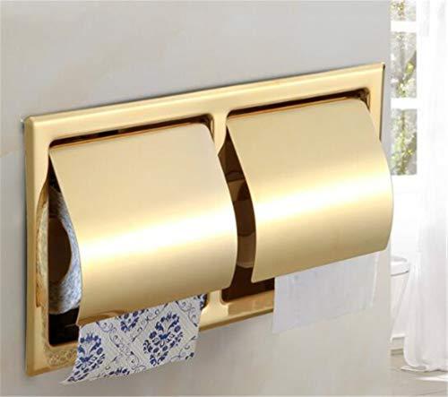 LUDSUY 304 Acero Inoxidable Oro Soporte Del Papel Higiénico De Hardware De...