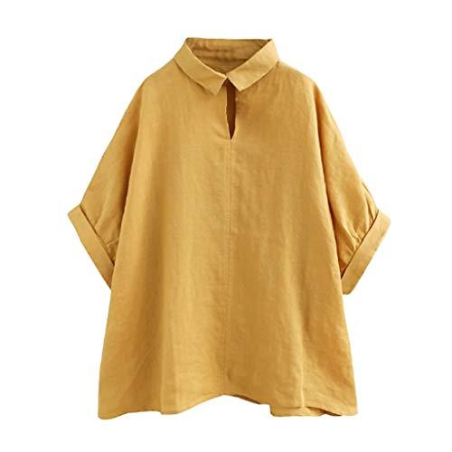 TWIFER Kurze Ärmel Bluse Damen Mode Stehkragen T Shirt Casual Kurzarm Oansatz Solide Kurze Tops Tee Shirt Bluse