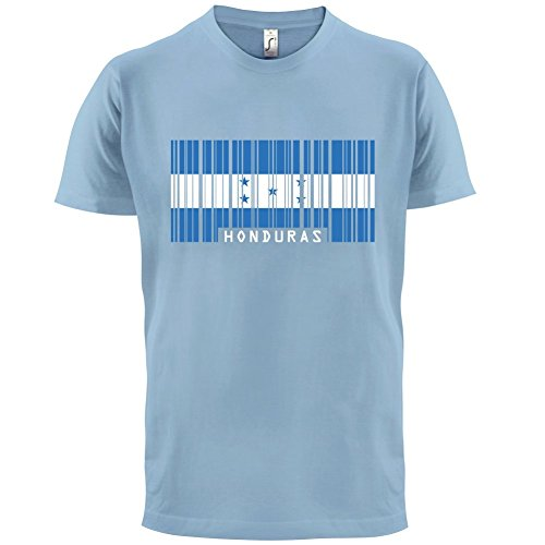 Honduras / Republik Honduras Barcode Flagge - Herren T-Shirt - 13 Farben Himmelblau