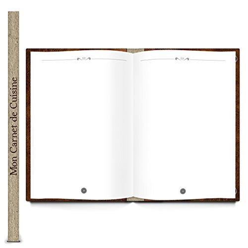 Xxl Livre De Recettes A Ecrire Mon Carnet De Cuisine De Nostalgie En Cuir Look Titre Francais 164 Pages Onglet Recettes Mon Propre Livre De
