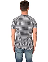 Fred Perry Fine Stripe Tee-Shirt Navy, T-Shirt