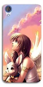 SEI HEI KI Designer Back Cover For HTC Desire 820 - Multicolor