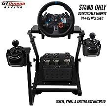 GT Omega PRO Supporto per Volante per Logitech G29 G920 Thrustmaster T500 T300 TX Ruota da Corsa, Pedali, TH8A Cambio Montaggio V1 - Fanatec Clubsport PS4 Xbox - Design Regolabile per Racing Console