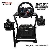 GT Omega Lenkradständer PRO für Logitech G29 Racing Wheel - Pedale & Schalthebelhalterung V1 - Unterstützung des Fanatec Clubsport PS4 Xbox - Neigungsverstellbares Design für Sim Racing-Erfahrung