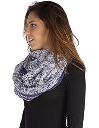 Amazon.it  Fantasia blu - Pashmina   Sciarpe e stole  Abbigliamento e502e9d27dca
