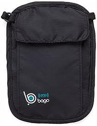 :Stash del cuello carpeta de la bolsa de viaje 2 en 1 - protege su dinero, tarjetas de crédito y documentos con este accesorio de viaje.