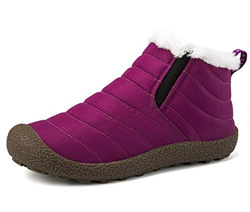 Botas de Nieve Hombre Mujer Botas de Invierno Cortas Fur Aire Libre Boots  Botines Niños Invierno d94ba5ecb30