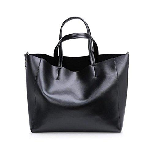 ESAILQ Automne et hiver nouveau sac à main en cuir de mode grand sac sac à bandoulière en cuir féminin sac à grande capacité