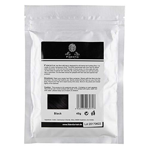 Fidentia Premium Schütthaar Klassik 40g Nachfüllpackung | Medium Brown - Mittelbraun