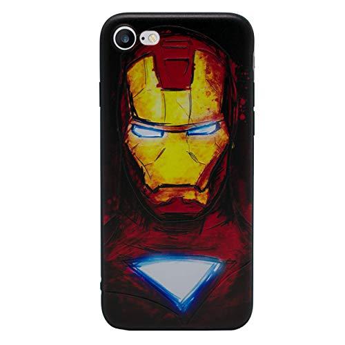 iPhone 5/5s 3D Marvel Silikonhülle / Gel Hülle für Apple iPhone 5s 5 SE / Schirm-Schutz und Tuch / iCHOOSE / Ironman (Marvel Handy-fall Iphone 5)