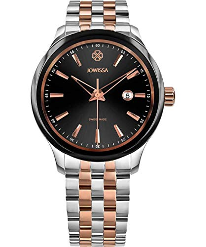 Jowissa Tiro Swiss J4.230.L - Reloj de Pulsera para Hombre, Color Negro, Rosa y Plateado