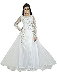 01ece6939fe0 Amazon.in  Whites - Dress Material   Ethnic Wear  Clothing   Accessories