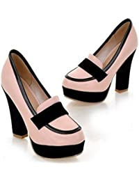 Brooklyn Walk Women Pumps Sexy Chunky High Heels Spring Autumn Shoes Woman Black White Platform Party Pumps