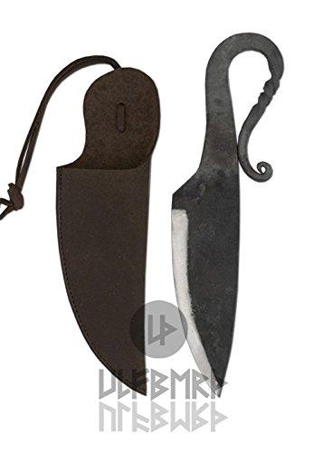Ulfberth Handgeschmiedetes Frühmittelalter-Messer mit Lederscheide