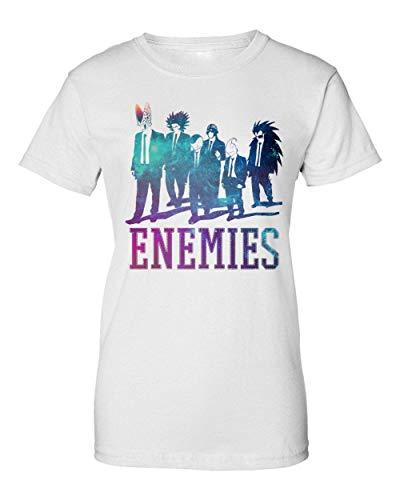 TeeWorld Enemies | Dragon Ball | DBZ | Anime Series | Galaxy | Villains | Cell | Frieza | Figure | Power Camiseta de Mujer X-Large