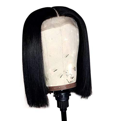 Jack Sparrow Stirnband Perücke - Kurz Menschliches Haar Bob-Perücken für Frauen
