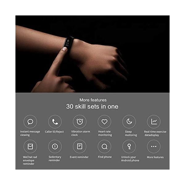 Xiaomi Mi Band 3 Pulsera de Actividad Inteligente Rastreador Deportes Deportiva con Pulsómetro Monitor de Ritmo Cardíaco 0,78 Pulgadas OLED Pantalla Táctil Pronóstico del Tiempo Negro 4
