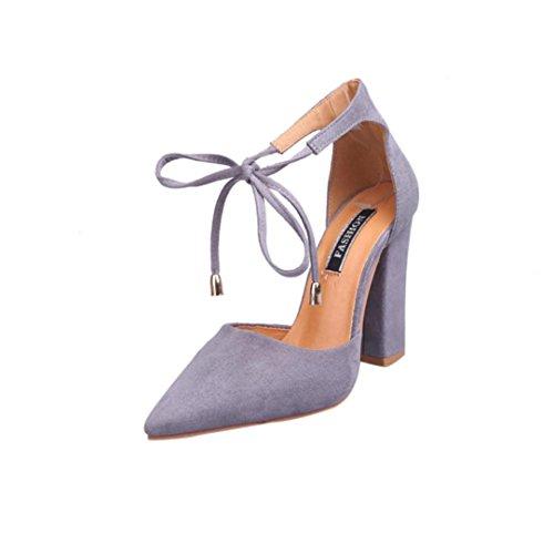 Webla Damen Sandalen Sommer Schuhe Damen Damen Pumps High-Heels Schuhe Damen Offene Sandalen mit Keilabsatz T-Spangen Grau