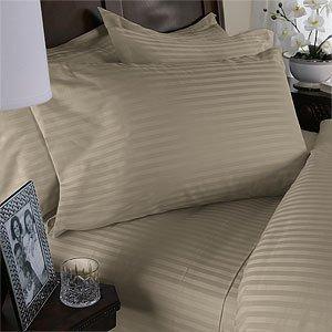 Ägyptische Bettwäsche 1000-Gewinde, aus ägyptischer Baumwolle, Fadenzahl 1000Tc 4 tlg. Queen