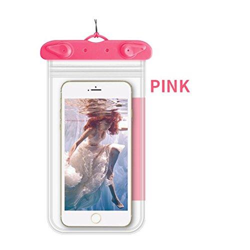 HHRONG Wasserdichter Kasten, trockene Tasche für iPhone 8/8 Plus / 7/7 Plus / 6S / 6/6 Plus; Galaxy S8 / S7 Rand / S6 Rand Plus; Google Pixel/Pixel Plus (klar) (Farbe : Rosa) (Rosa Gehäuse Für Iphone 4s)