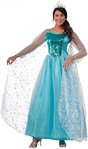 Damen Kostüm - Princess Crystal - Eisprinzessin Frozen Elsa Gr. 40 Eiskönigin Märchen Prinzessin (Frozen Kostüme Für Erwachsene)