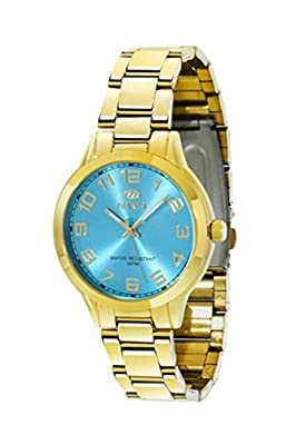 Reloj Marea Nineteen Steel Mujer B21151/7 Dorado y Azul Celeste