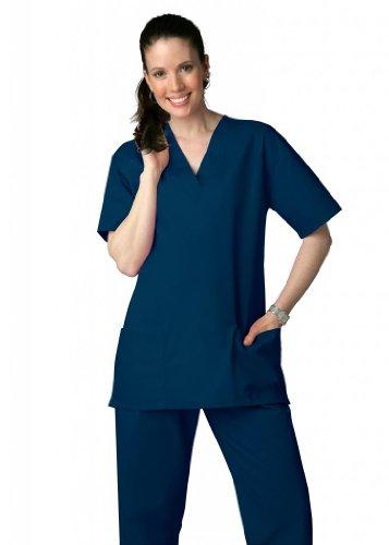 Adar Universal Krankenhaustunik mit Kordelzug, Unisex Gr. XXXX-Large, navy (Jockey-scrub-tops)