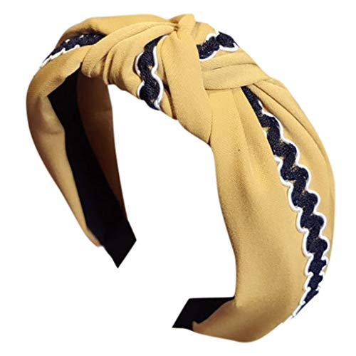 e Haarnadeln Kopfband Haarspange,Damen-Knoten-Gewebe-Stirnband-breites Band Hairband-Haar-Zusätze PrettyWomen-Knoten speciales neues Design für Damen ()