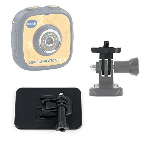 DURAGADGET-Soporte-Con-Adhesivo-Compatible-Con-La-cmara-de-fotos-y-vdeo-Kidizoom-Action-Cam-de-VTech-Adaptador-Con-Tornillo-14-Ideal-Para-Tablas-De-Surf