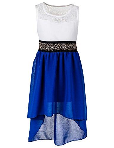 Festliches Sommerkleid in vielen Farben M361bl Blau Gr. 18 / 170