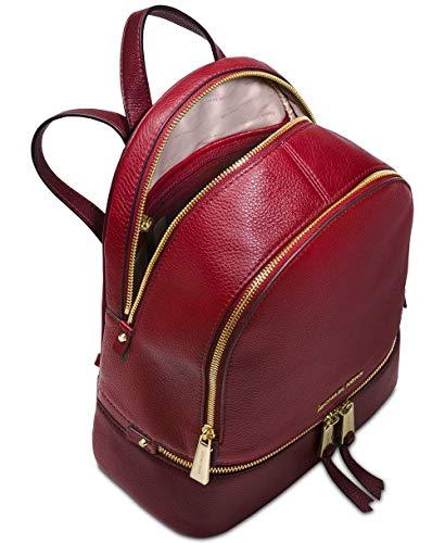 Michael Kors - Rhea Zip Md Backpack, Bolsos mochila Mujer, Marrón (Maroon), 11.4x29.85x25.4 cm (B x H T)