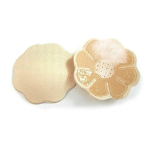 Mangotree 2 Paar Selbstklebende Nipple Cover Wiederverwendbare Nippel Pasties Silikon-BH