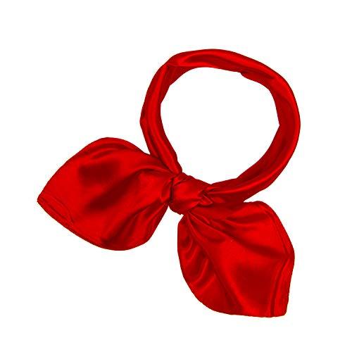 Damen Uni Farbe Schal Berufsbekleidung Frauen kleider feste quadratische Halstuch Bindeschal DIY Kopftuch mehrfarbig ()