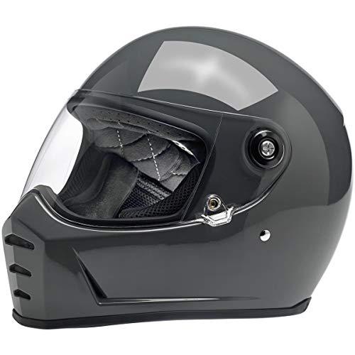 Biltwell Lane Splitter casco de motocicleta gris brillante de cara completa