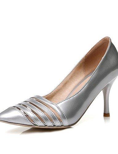 WSS 2016 Chaussures Femme-Bureau & Travail / Décontracté-Noir / Rouge / Blanc / Argent / Or-Talon Aiguille-Talons / Bout Pointu-Talons-Polyuréthane red-us10.5 / eu42 / uk8.5 / cn43